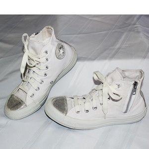 Converse ☆ All Star White&Silver